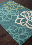 Jaipur Catalina CAT08 Blossomed Foliage & Porcelain Green Area Rug