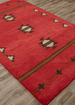 Jaipur Cabin CBN02 Fir Red Ochre & Nine Iron Area Rug