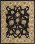 Nourison Charleston CH02 BLK Black Closeout Area Rug