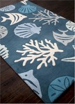 Jaipur Coastal Living Hand-Tufted CH31 Aquarium Dark Blue/Beige Area Rug