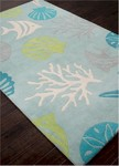 Jaipur Coastal Living Hand-Tufted CH32 Aquarium Sea Blue/Beige Area Rug