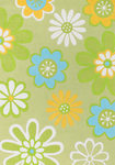 Surya Chic CHI-1005 Pea Green/Lime Closeout Area Rug - Spring 2010