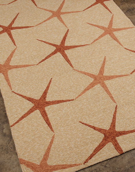 Perfect Jaipur Coastal Living Indoor Outdoor CI11 Starfish Dark Ivory/Dark Ivory  Closeout Area Rug