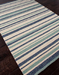 Jaipur Coastal Living Indoor-Outdoor CI14 Earn Your Stripes Classic Grey/Classic Grey Closeout Area Rug - Spring 2014