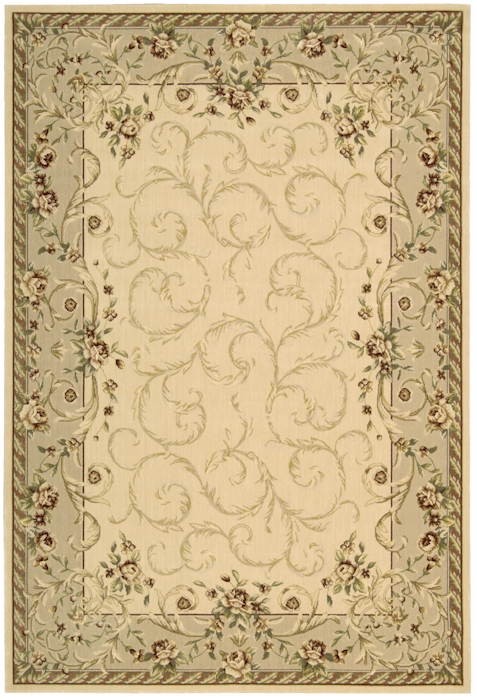 Nourison Grand Chalet Cl01 Iv Ivory Closeout Area Rug