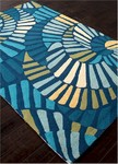 Jaipur Colours Indoor-Outdoor CO17 Whirligig Limoges & Vivid Blue Closeout Area Rug