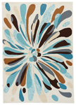 Jaipur Colours Indoor Outdoor CO21 Flowerburst Papyrus & Shopping Bag Area Rug