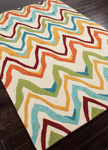 Jaipur Coastal Lagoon COL18 Bahia Burnt Orange & Cyan Blue Area Rug