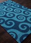 Jaipur Coastal Lagoon COL30 Wave Hello Celestial & Legion Blue Closeout Area Rug