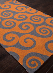 Jaipur Coastal Lagoon COL31 Wave Hello Burnt Orange & Golden Glow Closeout Area Rug