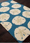 Jaipur Coastal Lagoon COL40 Sand Dollar Chino Green & Woodbine Closeout Area Rug