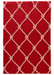 Jaipur Coastal Lagoon COL53 Fish Net Rio Red & Cloud Cream Area Rug