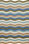 Trans-Ocean Brown Jordan Carlton 1302/04 Waves Aqua Closeout Area Rug