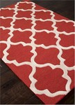 Jaipur City CT31 Miami Red Ochre & Bright White Closeout Area Rug