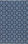 Bashian Hampton D105 FW19 Blue Closeout Area Rug