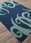 Jaipur Design Campus Indoor Outdoor DCI08 Aquatics Nautical Blue & Air Blue Area Rug