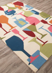Jaipur Design Campus Indoor Outdoor DCI10 Clink Vanilla Custard & Dark Denim Area Rug