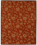 Jaipur Dhalia DH01 Camellia Red Orange/Red Orange Closeout Area Rug