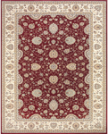 Feizy Daria 3981F Red/Cream Closeout Area Rug