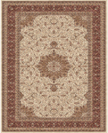 Feizy Daria 3983F Cream/Red Closeout Area Rug