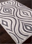 Jaipur Fables FB43 Illusion Bright White & Gray Violet Closeout Area Rug