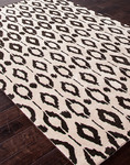 Jaipur Factoid FC12 Ikat Dot Bone White & Black Ink Area Rug