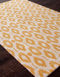Jaipur Foundations By Chayse Dacoda FC15 Ikat Dot Cloud White/Golden Apricot Closeout Area Rug - Spring 2014