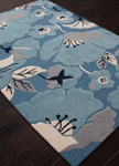 Jaipur Flora FLO01 Shoot Blue Heaven & Pearled Ivory Closeout Area Rug