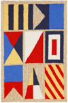 Trans-Ocean Liora Manne Frontporch 1403/12 Signal Flags Natural Area Rug