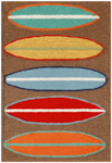 Trans-Ocean Liora Manne Frontporch 1406/19 Surfboards Brown Area Rug