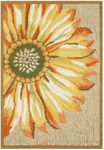 Trans-Ocean Liora Manne Frontporch 1417/09 Sunflower Yellow Area Rug