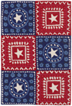 Trans-Ocean Liora Manne Frontporch 1806/14 Bandana Americana Closeout Area Rug