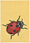 Trans-Ocean Liora Manne Frontporch 1813/09 Ladybug Yellow Closeout Area Rug