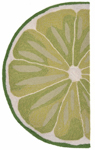 Trans-Ocean Liora Mann Frontporch 1557/06 Lime Slice Green Area Rug