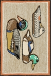 Trans-Ocean Liora Manne Frontporch 1445/12 Duck Decoys Neutral Closeout Area Rug