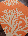 Jaipur Grant Design Indoor-Outdoor GD01 Bough Out Apricot Orange & Tuffet Area Rug