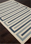 Jaipur Grant Design Indoor-Outdoor GD23 Bars Pale Grey Closeout Area Rug