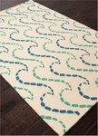 Jaipur Grant Design Indoor-Outdoor GD42 Ray Hello Deep Green & Mosaic Blue Closeout Area Rug