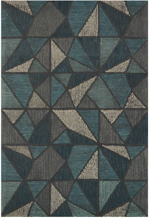 Loloi Gemology GQ-01 Teal / Grey Area Rug
