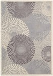 Nourison Graphic Illusions GIL04 GRY Grey Area Rug