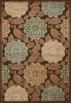 Nourison Graphic Illusions GIL13 BRN Brown Area Rug