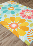 Jaipur Iconic IBP09 Spring Flowers Glacier & Banana Closeout Area Rug