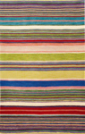 Trans-Ocean Liora Mann Inca 9441/24 Stripes Red/Multi Area Rug