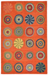 Trans-Ocean Liora Mann Inca 9449/17 Pop Circles Orange Area Rug