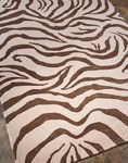 Jaipur J2 J227 Kalaiya White Ice/Dark Brown Closeout Area Rug