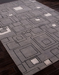 Jaipur J2 J230 Jali Medium Gray/Ebony Closeout Area Rug - Spring 2014