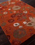 Jaipur J2 J250 Mana Red Orange/Red Orange Closeout Area Rug - Fall 2013