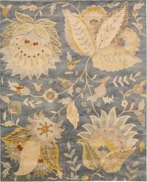 9 X 12 Nourison Nourmak Hand Knotted 100 Wool Persian: Nourison Jaipur JA52 DEN Denim Area Rug