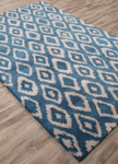 Jaipur Timeless JAT26 Rotary Moroccan Blue Feather Gray Closeout Area Rug