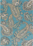 Jaipur Timeless JAT29 Paisley Smoke Blue Candied Ginger Closeout Area Rug